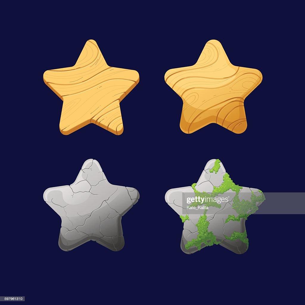 Cartoon different Stars.