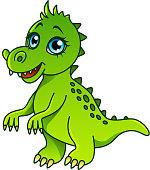 Cartoon dinosaur isolated vector illustration