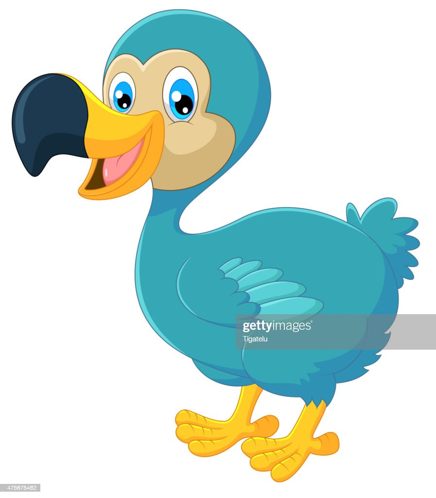Cartoon dodo bird