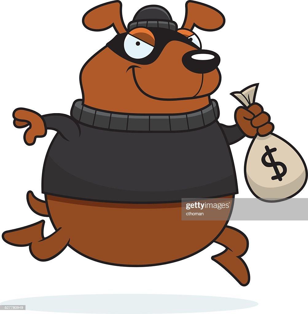 Cartoon Dog Burglar