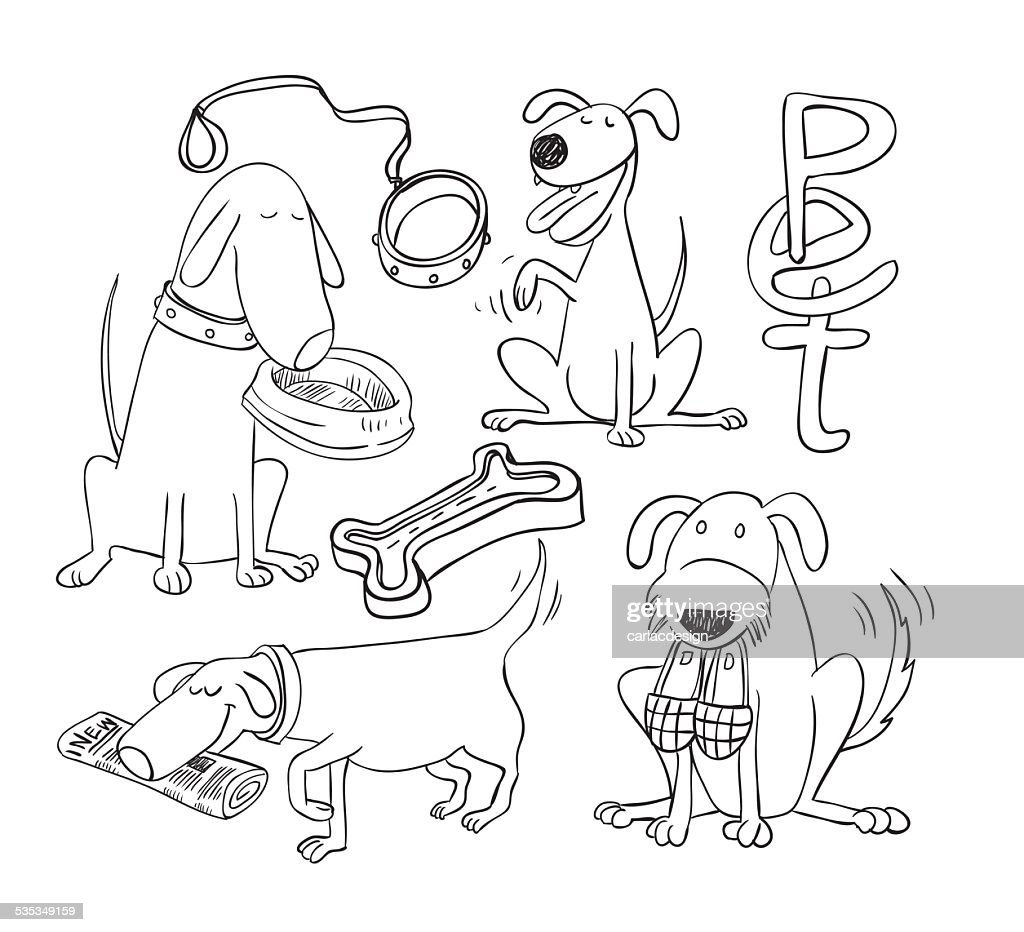 cartoon dog, Vector illustration.