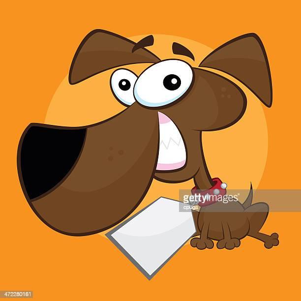 Cartoon Dog with Big License