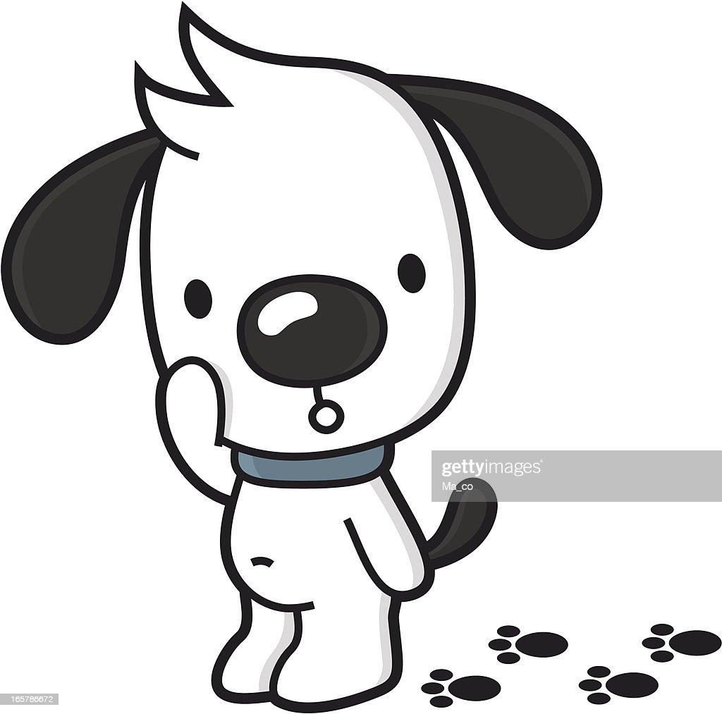 chien de dessin anim233 avec des pattes salepas house cass233