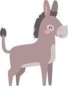 Cartoon donkey animal vector.