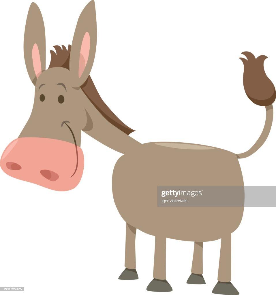 cartoon donkey farm animal