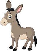 Cartoon donkey smile and happy