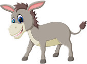 cartoon donkey smile