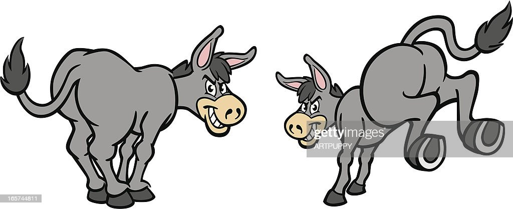 Cartoon Donkeys