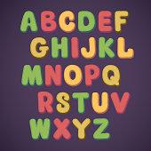 Cartoon doodle alphabet