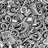 Cartoon doodles Design and Art seamless pattern