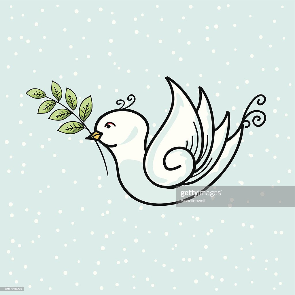 Cartoon Dove With Branch High Res Vector Graphic Getty Images