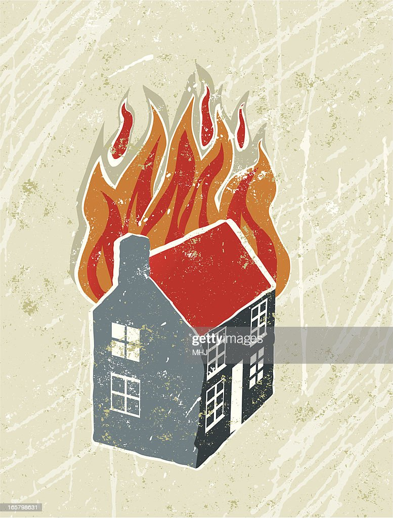 Burning House Stock Illustrations And Cartoons