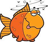Cartoon Drunk Goldfish