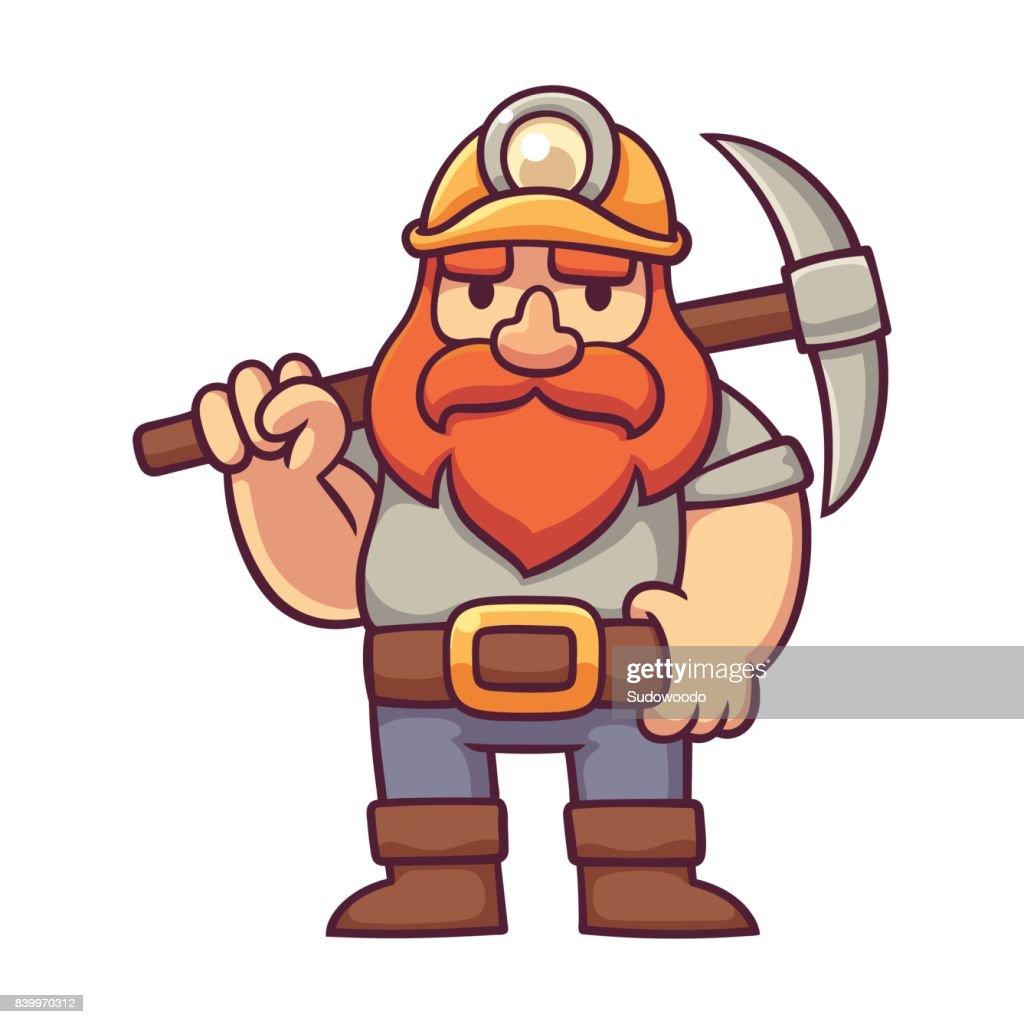 Cartoon dwarf miner