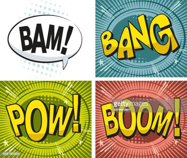 illustrations, cliparts, dessins animés et icônes de effet dessin animé - bulle bd