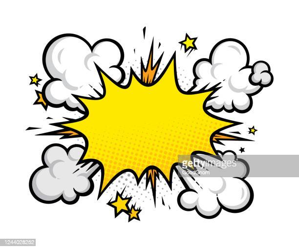 cartoon effects explosion design element - flash stock illustrations