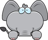 Cartoon Elephant Peeking