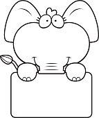 Cartoon Elephant Sign