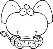 Cartoon Elephant Sitting