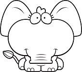 Cartoon Elephant Smiling