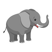 A cartoon elephant