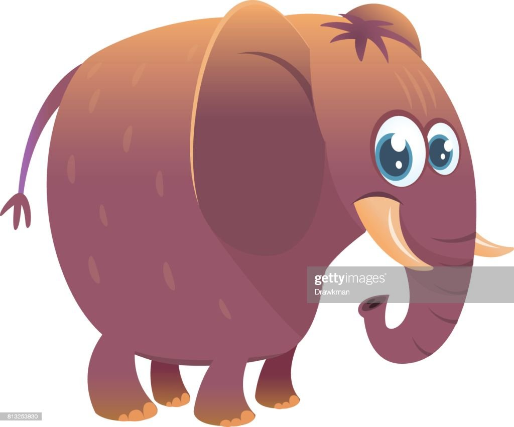 Cartoon elephant. Vector illustration isolated icon