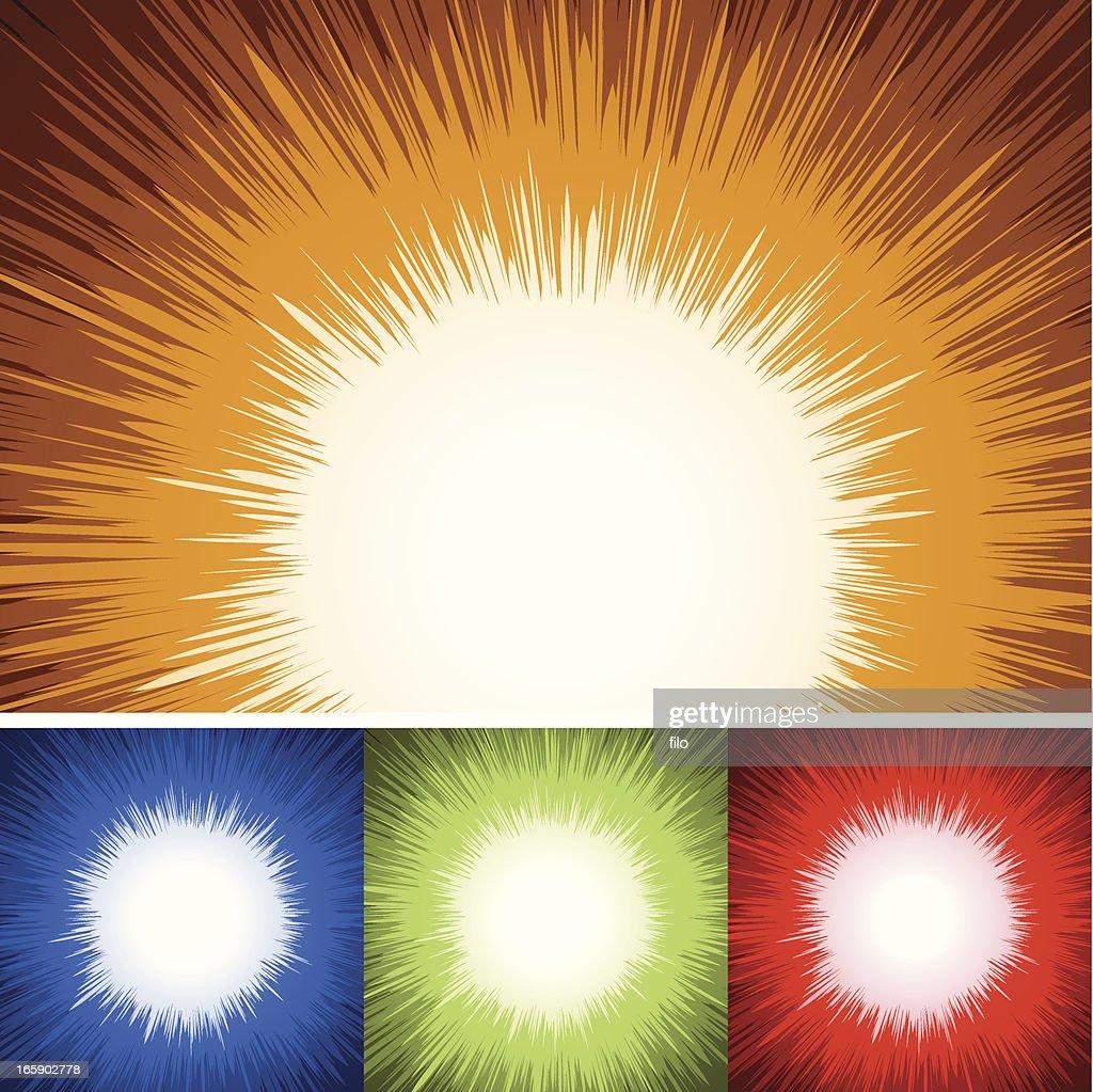 Cartoon Explosion Background