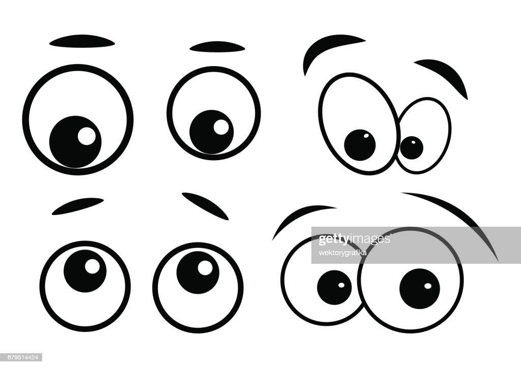 cartoon eyes vector symbol icon design.