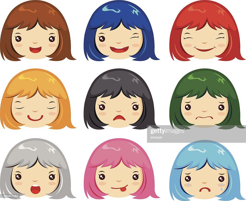 cartoon face emotions