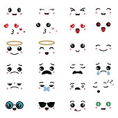 Cartoon faces expressions.
