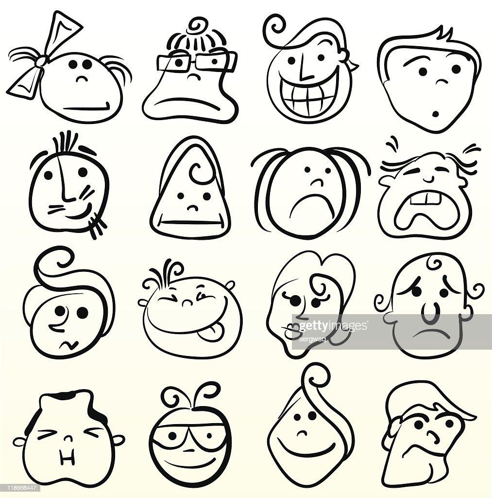 cartoon facial expressions