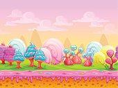 Cartoon fantasy candy land location