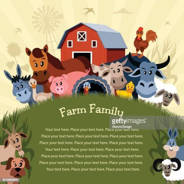 cartoon farm poster - bran stock illustrations, clip art, cartoons, & icons