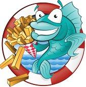 Cartoon Fish and Chips.