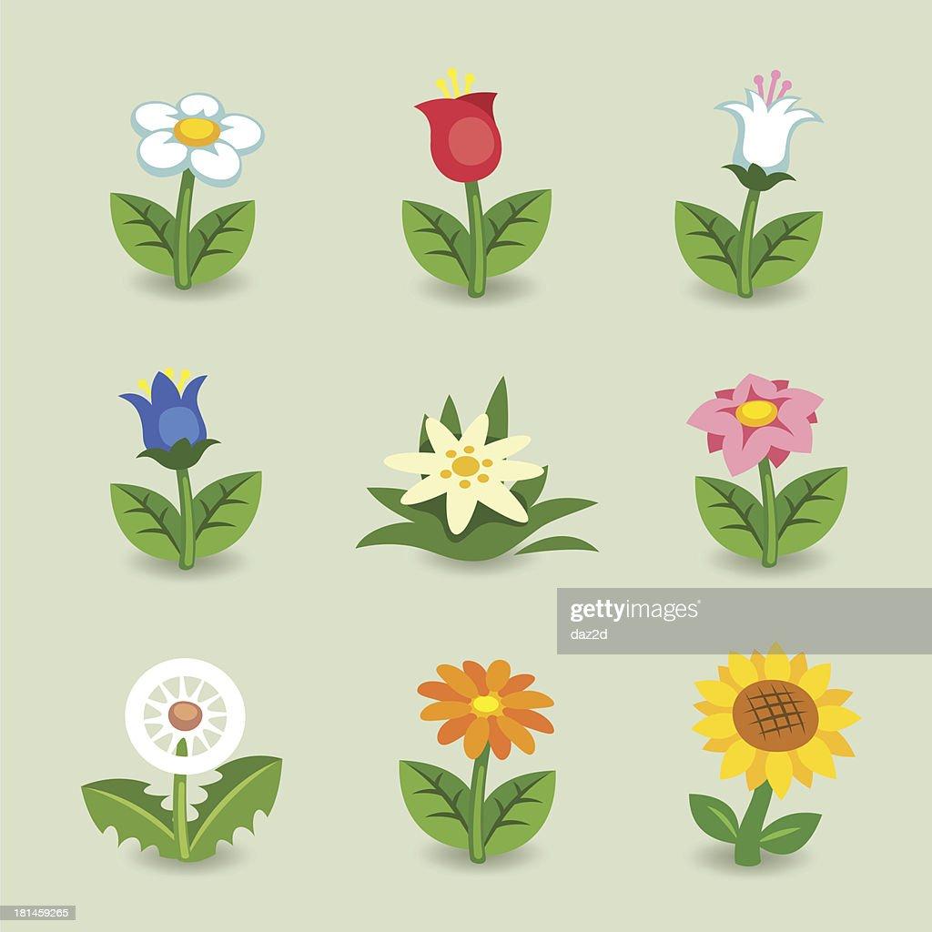 Cartoon Flower Set