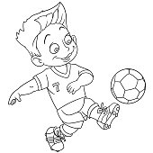 cartoon football coloring page
