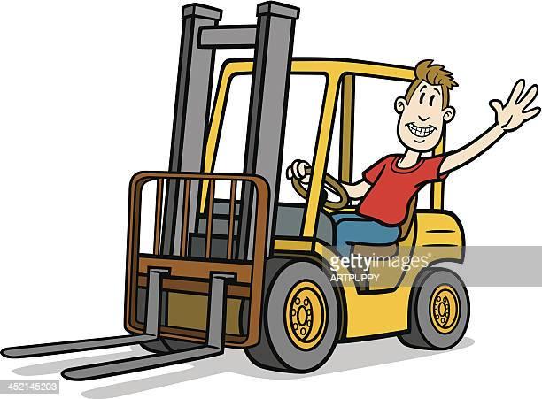 Cartoon Forklift Driver