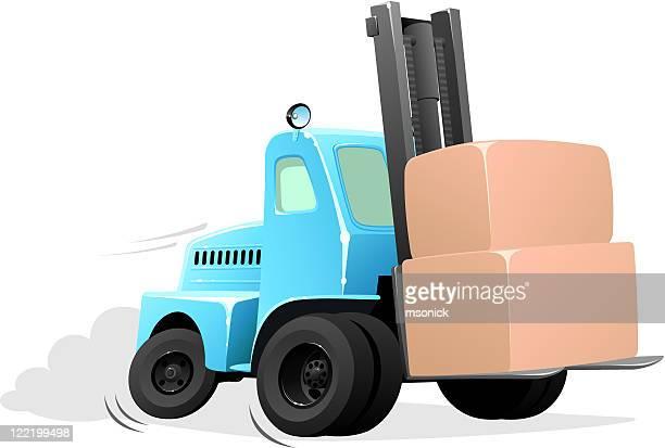 Cartoon forklift truck