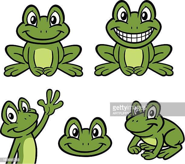 cartoon frogs - frog stock illustrations
