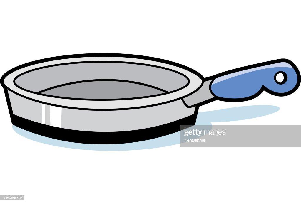 Cartoon frying pan.