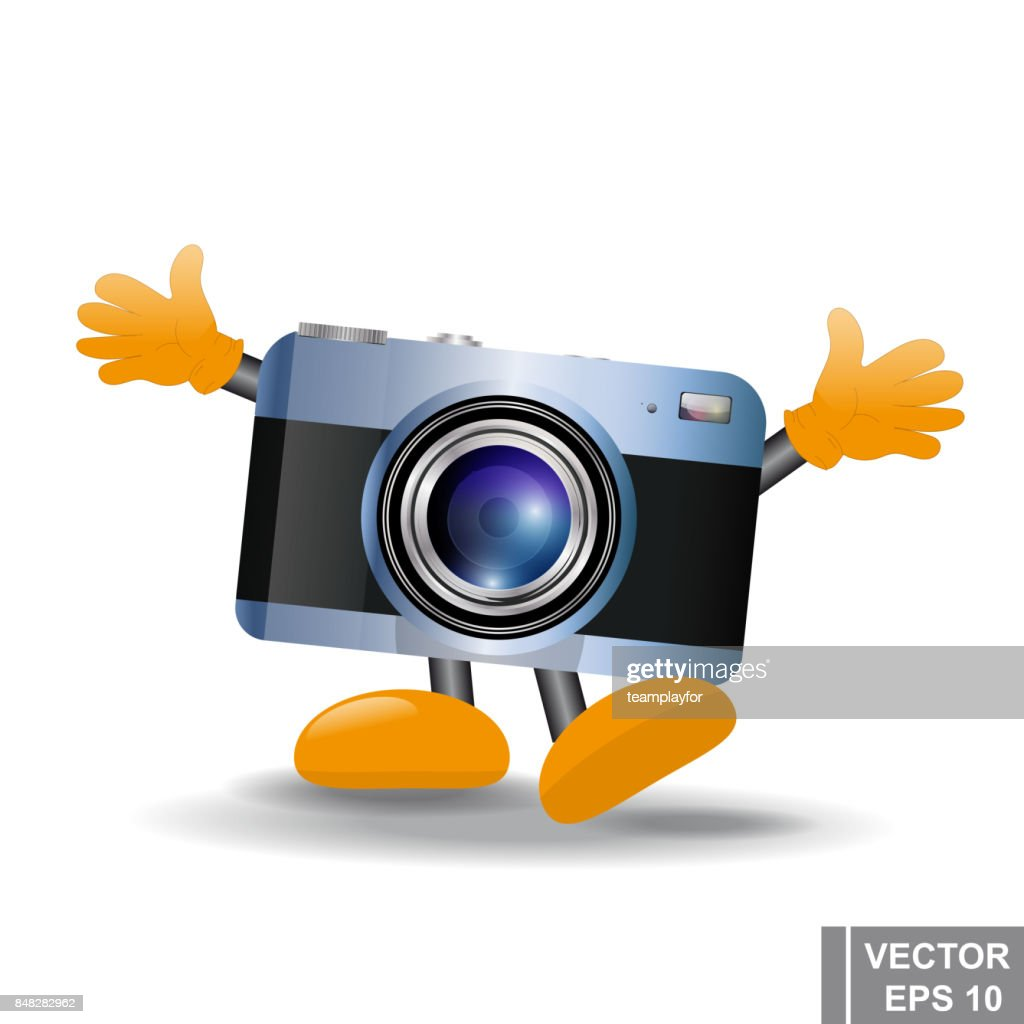 Cartoon funny camera. Take pictures. moments. For your design.