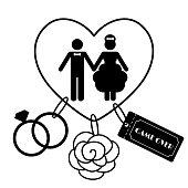 Cartoon Funny Wedding Symbols - Game Over
