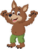 Cartoon funny werewolf character