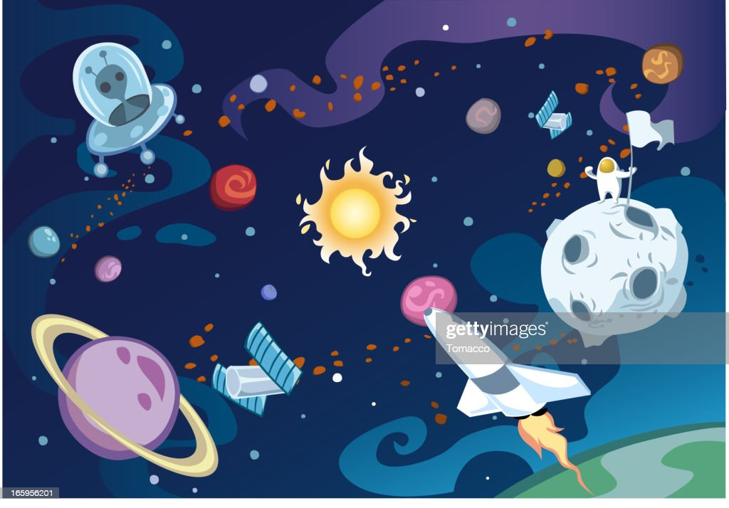 Cartoon galaxy