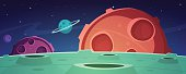 Cartoon Game Space Background