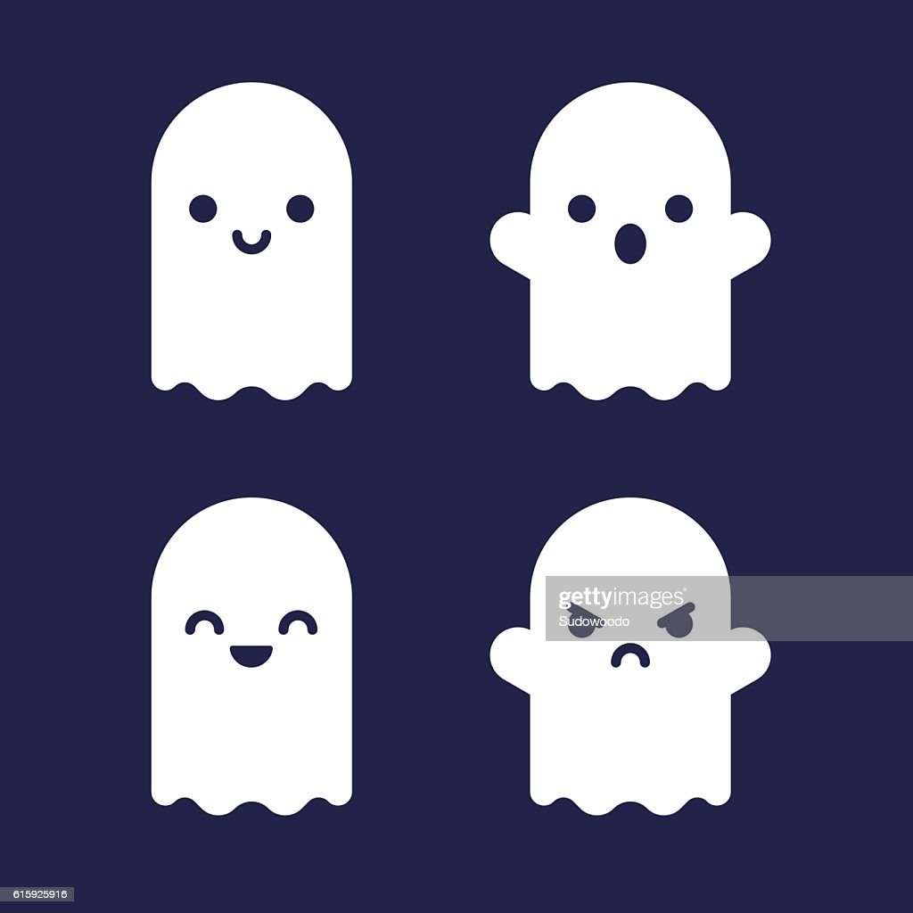 Cartoon ghosts set