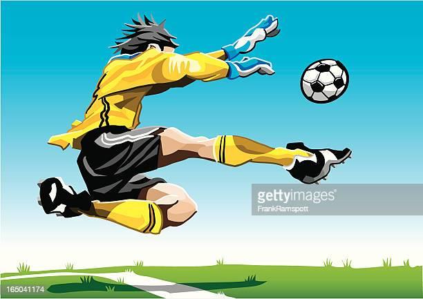 Cartoon Goalkeeper Yellow