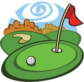 Cartoon Golf Course