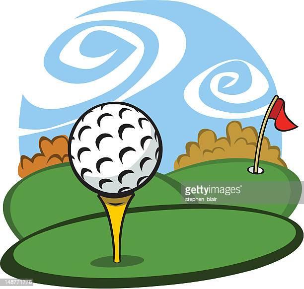 cartoon golf tee - teeing off stock illustrations, clip art, cartoons, & icons