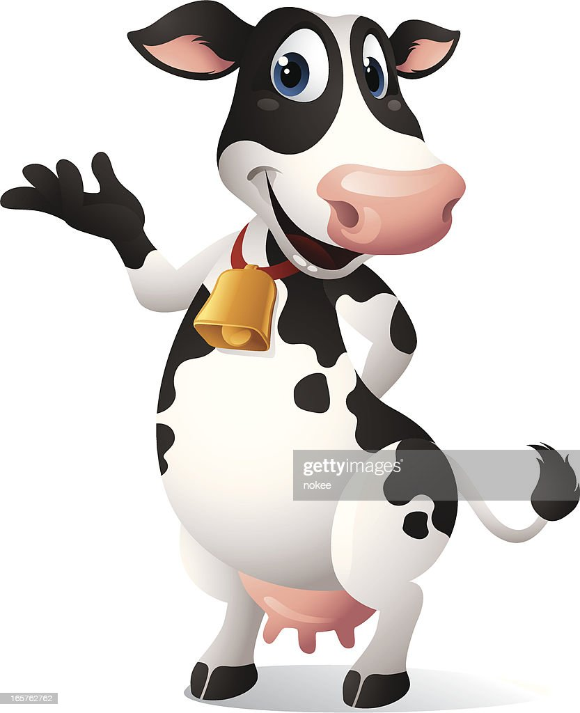 Cartoon graphics of Cow